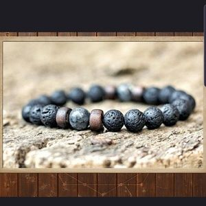 Other - NATURAL LAVA ROCK STONE ESSENTIAL OIL BRACELET.